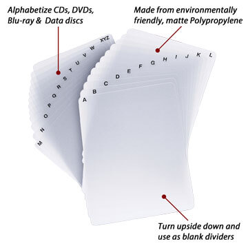 24 Sheet alphabetical/blank Divider Set