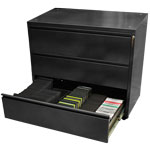 3-Drawer Media Storage Cabinet